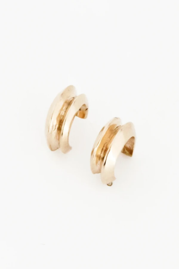 Another Feather Petite Hera Hoops - 14K Gold