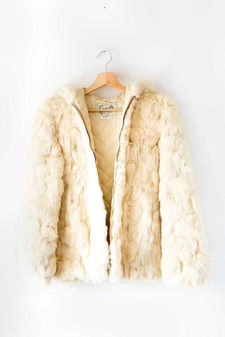 Vintage Caravelle Fur Jacket - Creamy Beige