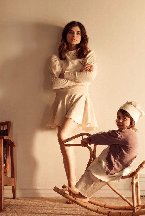 Petit Mioche Organic Merino Wool Shorts - Cream