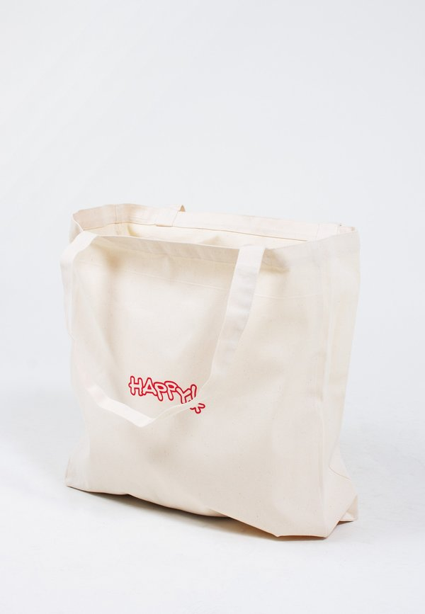 Good As Gold Happy! Tote - Natural/Red