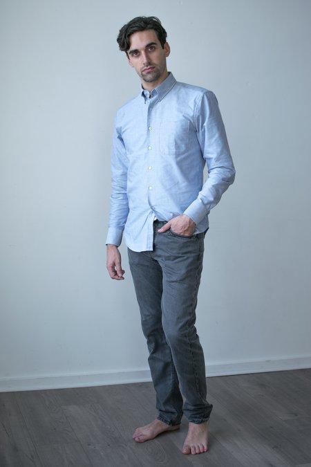 Billy Reid Garment Dyed Slim Jean - Charcoal