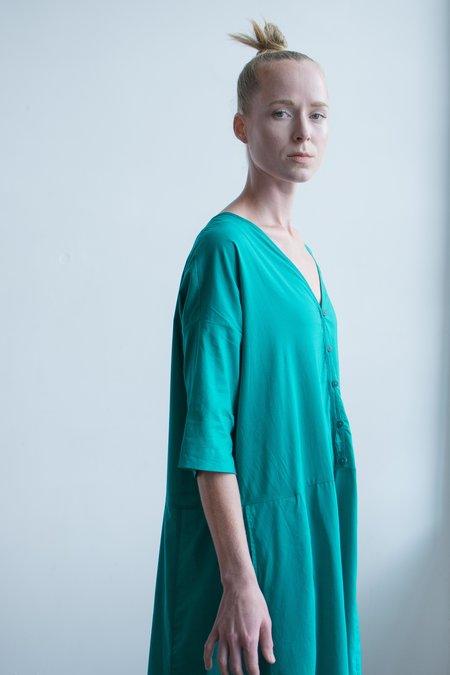 Kowtow Long Reflection Dress - Emerald