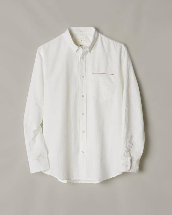 Billy Reid MSL Pocket Shirt - White