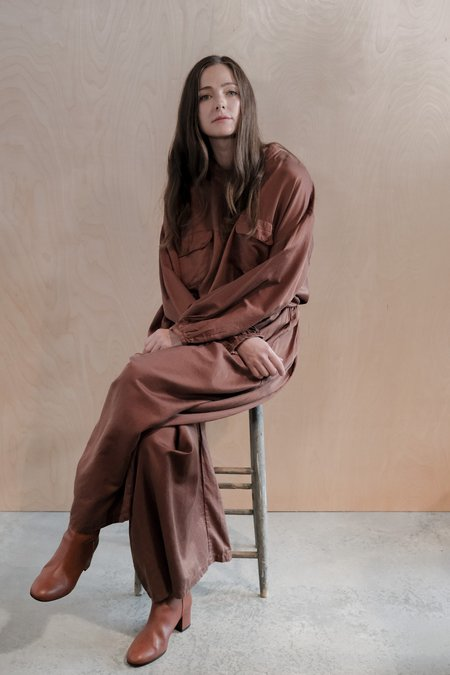 Revisited Silk Cotton Pants - Maroon