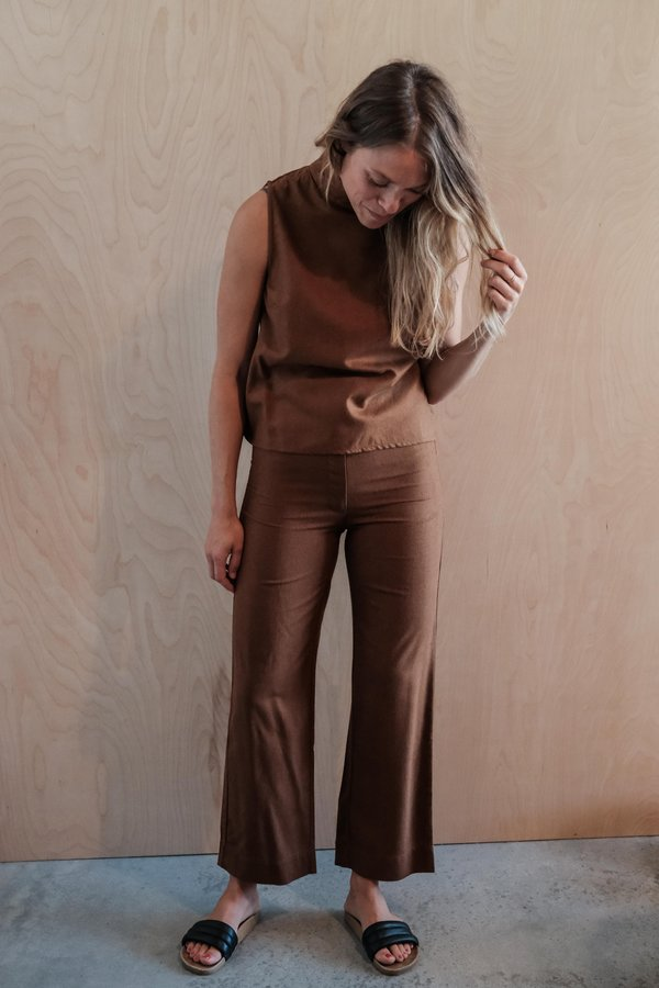 Ali Golden Silk Fly-front Pant