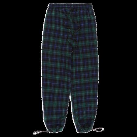 Xhibition Plaid Jogger - Blue/Green