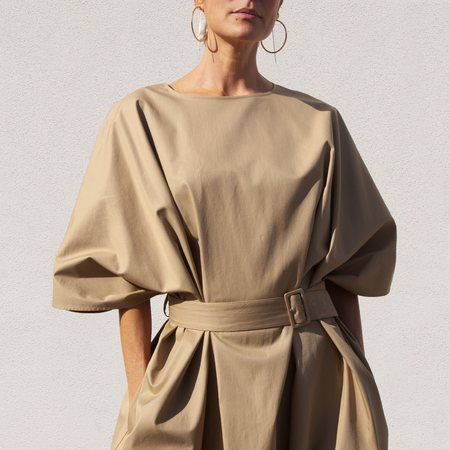 MM6 Voluminous Dress - Camel