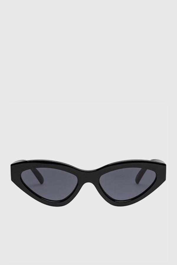 Le Specs Synthcat Sunglasses - Black/Smoke