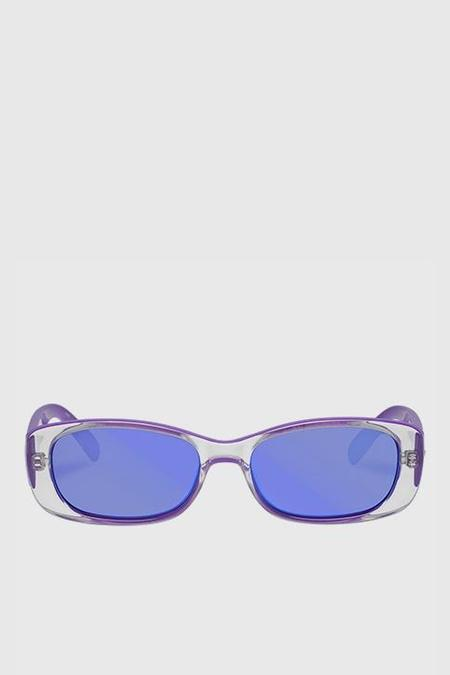 Le Specs Unreal! Sunglasses - Neon Purple/Purple