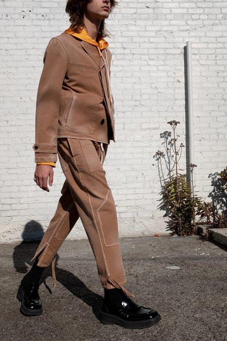 Lanvin Garment Dyed Patch & Ribbons Pants