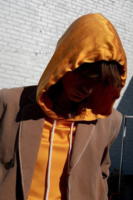 Lanvin Silk Drawcord Hoodie - Orange