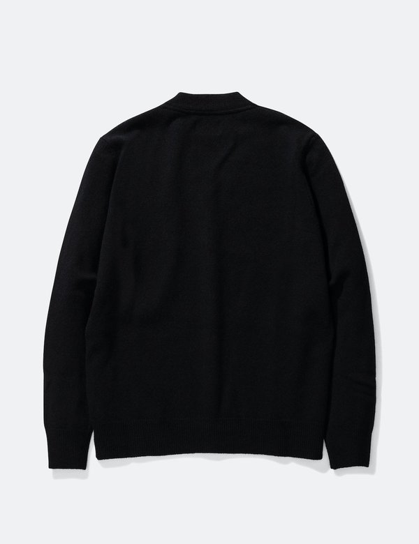 Norse Projects Adam Lambswool Cardigan - Black