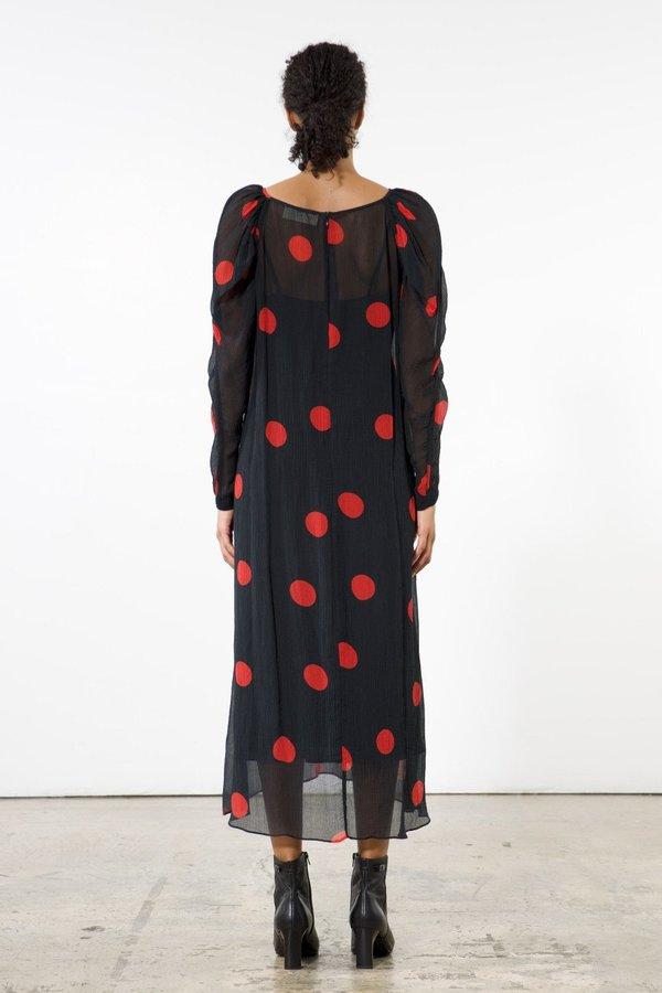 Mara Hoffman Elisabetta Dress - Black/Red Polka Dots