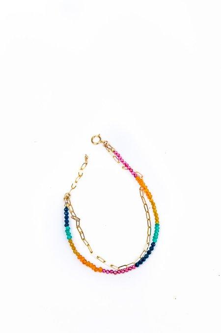 Jurate Brown Rainbow Miley Bracelet