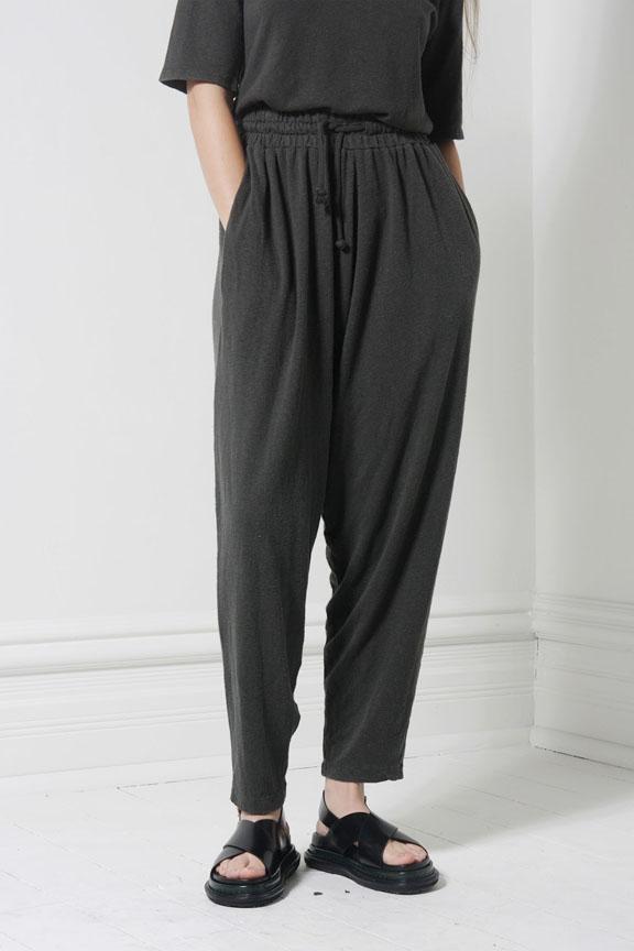 Black Crane Jersey Pant - Charcoal