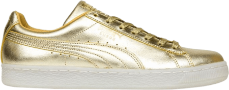 Puma Suede 50th Anniversary Shoe - Gold