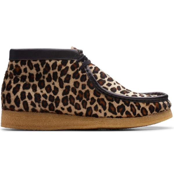 Clarks Wallabee Boot - Leopard Print
