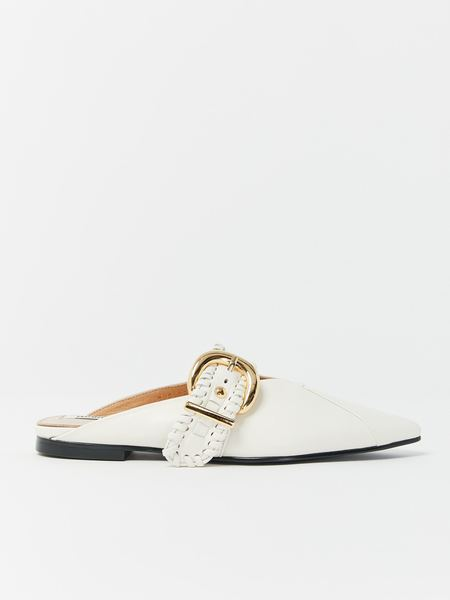 Reike Nen Turnover Strap Slippers - White