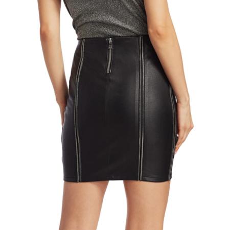 RtA Amelie Night Life leather skirt - black