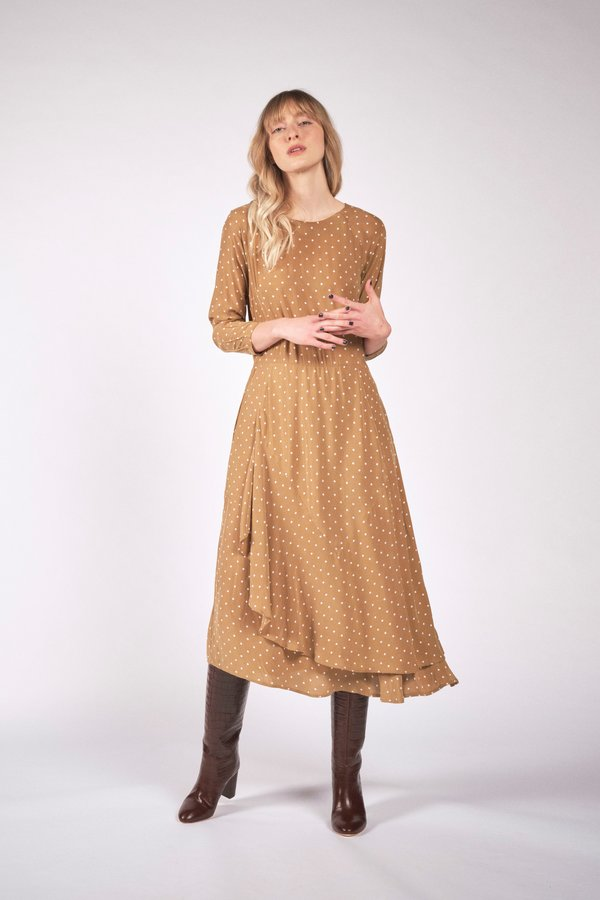 Maria Stanley WILLA DRESS - mushroom dot