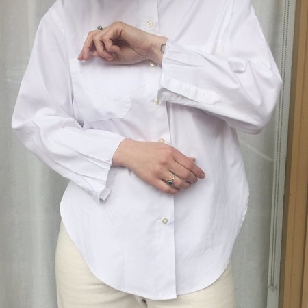 Laurs Kemp Reworked Fringe Button Up - white