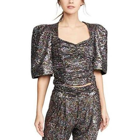 Iorane Confetti Sequin Puff Top - multi