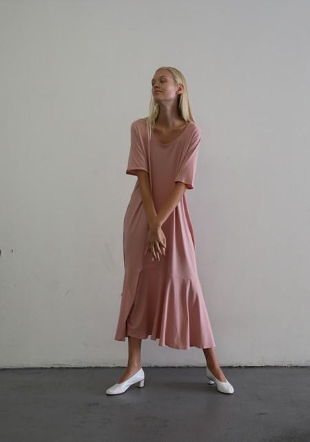 KOWTOW FLARE HEM DRESS - CHALKY PINK