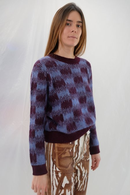 Beklina Bofill Crew Sweater - Berry/Wine