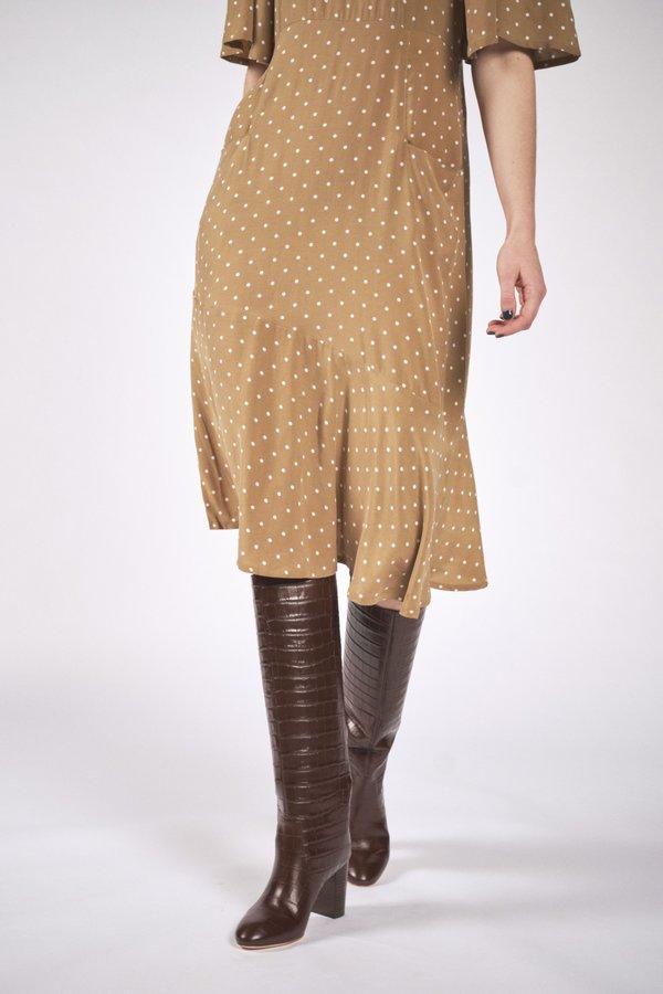 Maria Stanley Hailey Dress - Dotted Mushroom