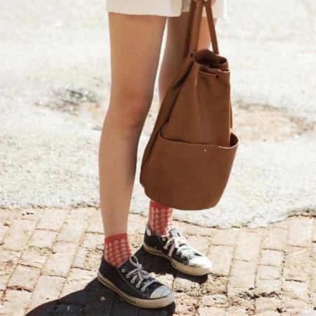 Erin Templeton Gunny Sack Backpack Bag - Caramel Leather