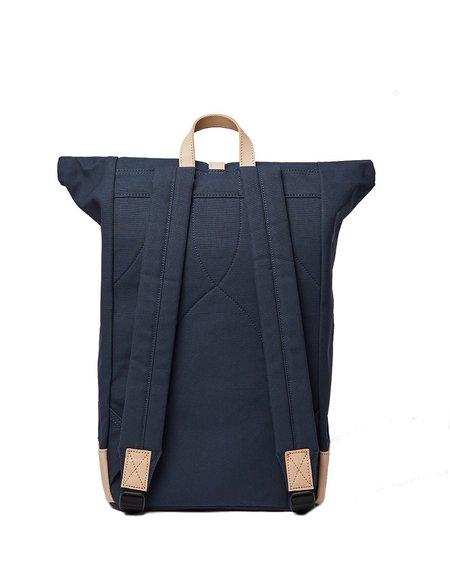 Sandqvist Dante Grand Backpack - Navy/Natural Leather