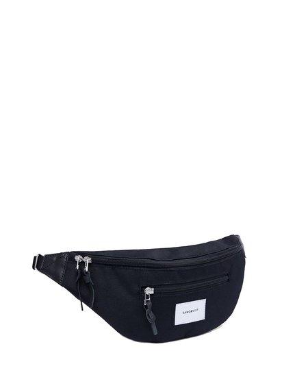 Sandqvist Waist pack with Black Leather - Black