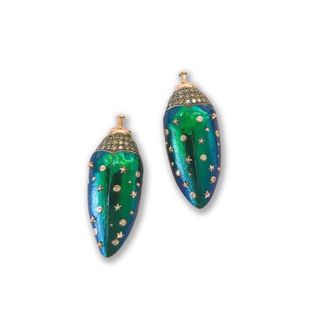 Bibi Van Der Velden Scarab Attachment Earrings