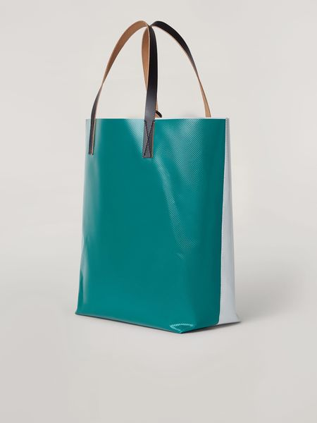 Marni Coated PVC Tribeca Shopping Tote Bag
