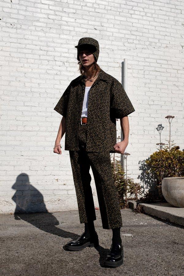 Marni Heavy Cotton Cells Print Shirt - Camo