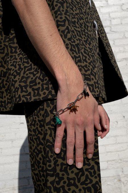 Marni Silver Chain Toy Charm Bracelet