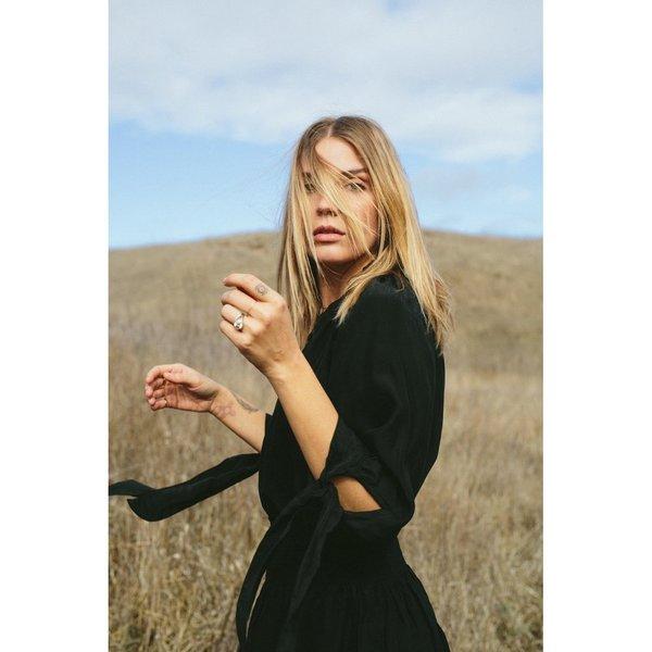 Natalie Martin Collection Renata Shirt - Black Silk