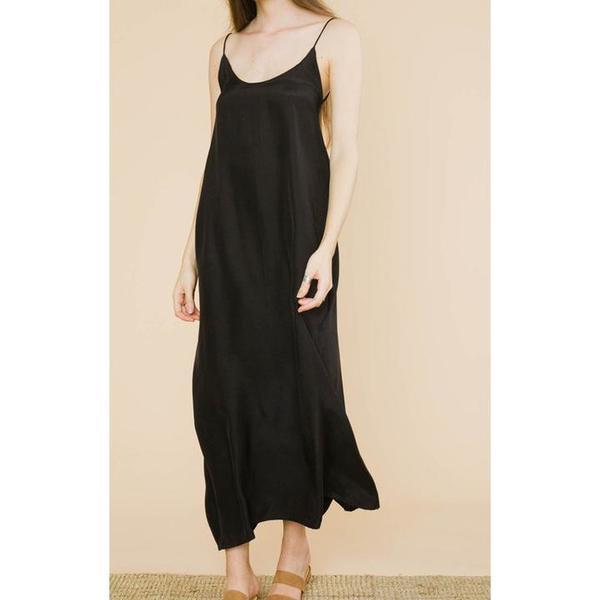 Natalie Martin Collection Heather Maxi - Black Silk