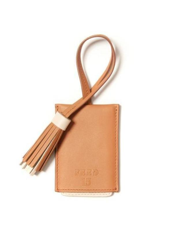 FEED Leather Luggage Tag - CAMEL