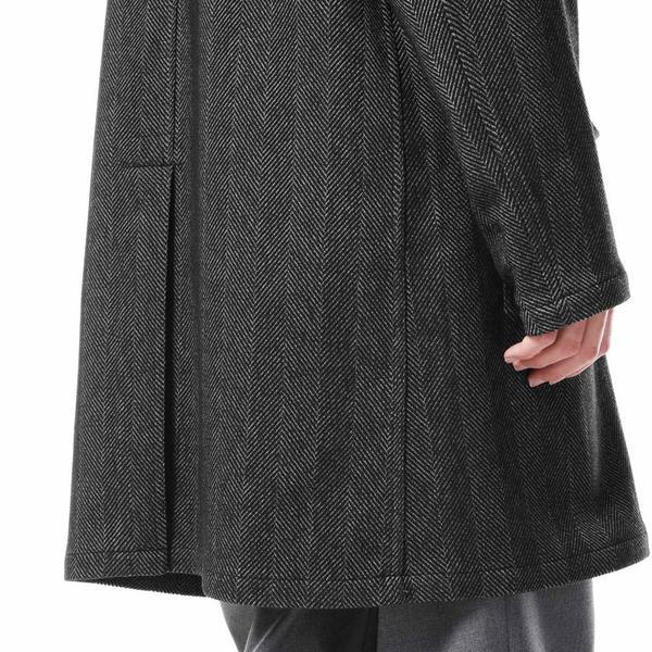 SOPHNET. Big Herringbone Gown Shirt - gray
