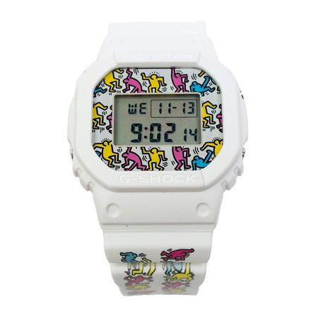 G-Shock x Keith Haring DW-5600 Watch - White