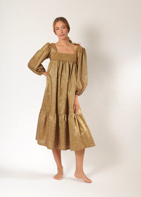 Lindsay Robinson Tia Lurex Dress - Bronze