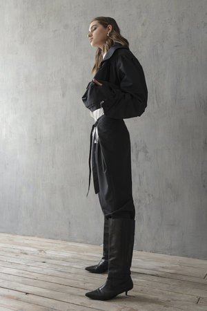 K M by L A N G E Deconstructed 80s Suit - Black