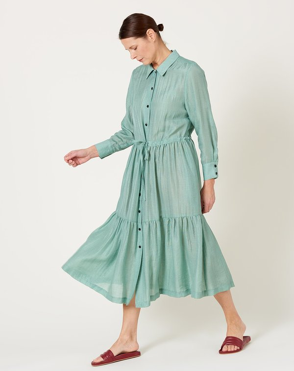 No.6 Roman Dress - Sage Iridescent