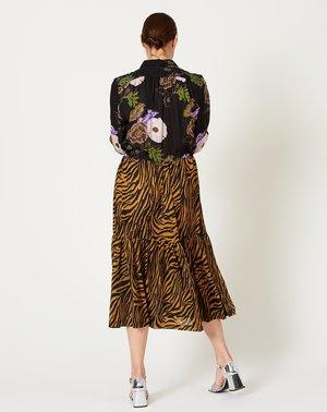 No.6 Roman Dress - Zebra/Hyacinth
