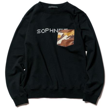 SOPHNET. Pocket Crew Neck Sweat - black