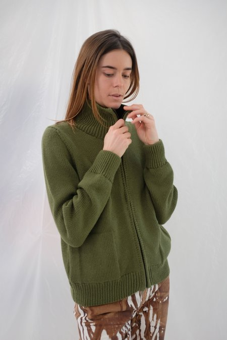 Beklina Knit Bomber Jacket - Avocado