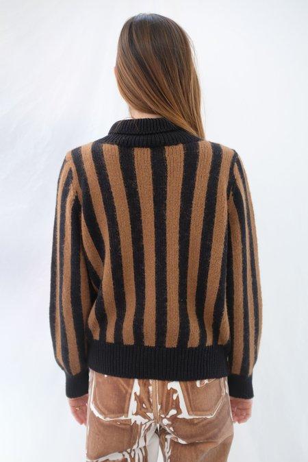 Beklina Knit Bomber Jacket - Cocoa/Black