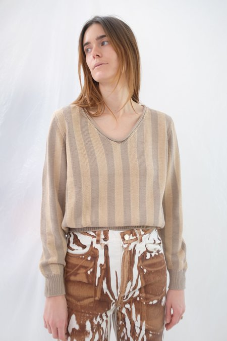 Beklina Latta V-neck Sweater - Fawn/Toast