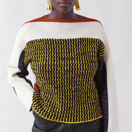 Rachel Comey Milano Crochet Vanda Pullover - Ivory/Multi